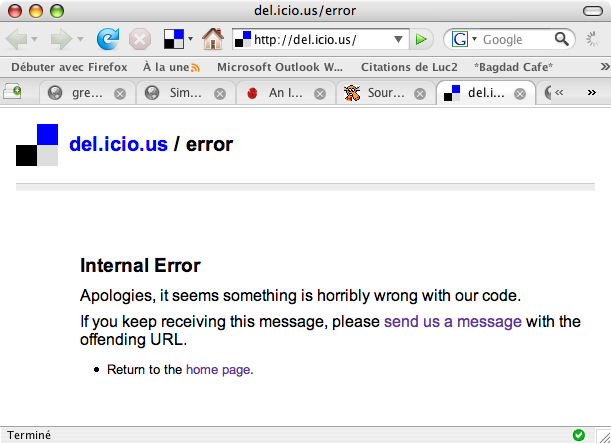del.icio.us is down